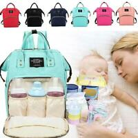 Multifunctional  Large Baby Travel Diaper Backpack Mummy Nappy Changing Bag AU