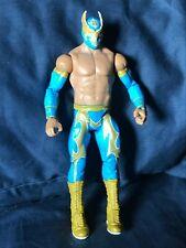 WWE Mattel Basic Series 18 Sin Cara Luche Libre Wrestling Figure- Blue and Gold
