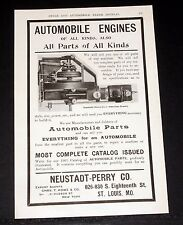 1903 OLD MAGAZINE PRINT AD, NEUSTADT-PERRY, AMERICAN BEAUTY AUTOMOBILE ENGINE!