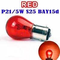 Lamparas BAY15D (1157) P21/5W Posicion Freno Cristal Rojo  Pack 2 uds.