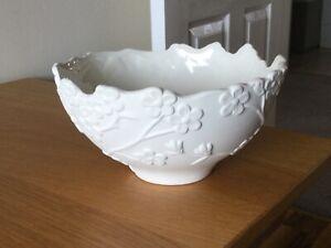 Laura Ashley home white blossom 22 x 12 cm bowl