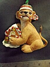 "The Danbury Mint Christmas ""Baby Animal"" Ornament ""Lion Cub"" Euc"