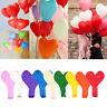 "Lots 10Pcs 12"" Latex Heart Shaped Balloons Wedding Birthday Proposal Party Decor"