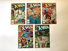 The Uncanny X-Men #228 229 230 231 232 1988 XMEN MARVEL LOT