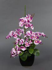 Orchideen-Arrangement rosa-pink im schwarzen Dekotopf JA künstliche Orchidee