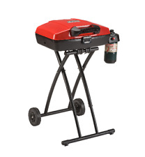 Propane Grill Roadtrip Portable Porcelain Coated Removable Tray Wheeled Stand