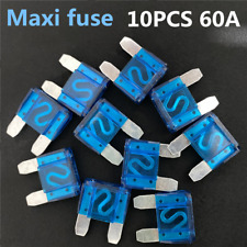10 x 60 Amp Maxi Blade Fuse Fuses Blue 60A Amp A Car Van Bike Fuse Large