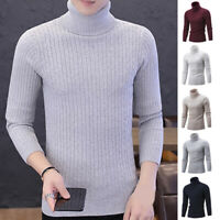 Men Sweater Fall Winter Warm High Collar Casual bottoming Knit Tops Sweater