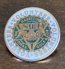 Vintage US Open National Golf Club Tournament Volunteer Hat Lapel Pin 1991