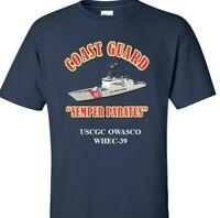 USCGC OWASCO  WHEC-39 *COAST GUARD  VINYL PRINT SHIRT/SWEAT