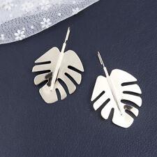 European Style Women Metal Leaf Hook Dangle Earrings Fashion Statement Jewelry