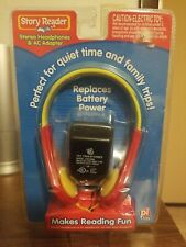 PI Kids STORY READER  stereo headphones and AC adapter brand new sealed