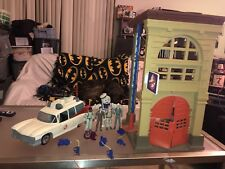 Original 1980s Real Ghostbusters Firehouse, Ecto-1, Figures -Vintage Toy Lot