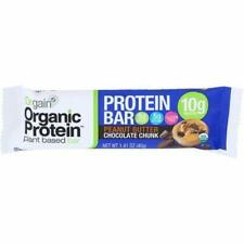 Orgain Organic Plant-Based Protein Bar Peanut Butter Chocolate Chunk 12 Bars NEW