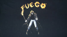 Men's 4XL FUEGO Cowboy Skeleton with Skull T-Shirt on Fire ONLY ONE ON EBAY!