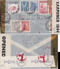Argentina 1944 Air mail from Buenos AiresTripole censored {See Below}