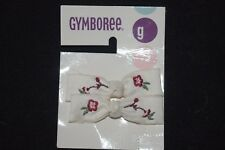 Gymboree Girls Flower Blossoms Hair Bows White Red Floral 2 3 4 5 6 7 8 9 10 12