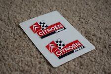 Citroen Racing Moto Vélo Voiture Emblème Badge Course Rallye Autocollants Stickers 50 mm