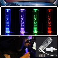 Crystal Bubble Car Manual Gear Shift Stick Lever Knob Shifter RGB Color 100MM