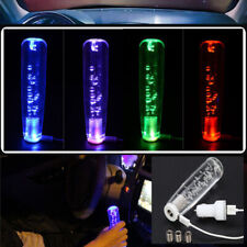 Crystal Bubble Car Manual Gear Shift Stick Lever Knob Shifter RGB Color 100MM