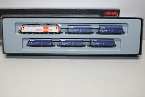 Märklin 81800 Mini Club Train Pack Hlve / Vtg with Diesel Locomotive Z Gauge Ob
