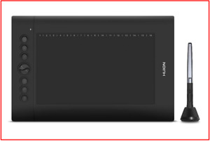 HUION H610PRO V2 Battery-free Pen Graphic Tablet of 8192 Levels with Tilt
