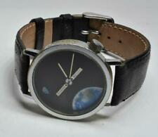 VTG AKTEO J.C.Mareschal Design Earth, Moon & Satellite Space Mans Quartz Watch