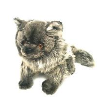 Vintage Avanti Applause Grey Persian Plush Cat Italy 933 Original Tags 1984