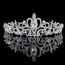 Bridal Princess Rhinestone Pearl Crystal Hair Tiara Wedding Crown Headband #rr