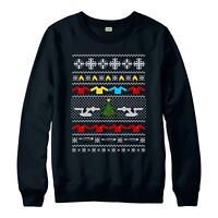 Star Trek Christmas Jumper, Galaxy Universe Space Xmas Adult & Kids Jumper Top
