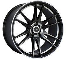 18x8 Advanti Optimo 5x115 +35 Black/ML Rims Fits Buick Century Electra La Crosse