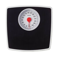 Taylor  300 lb. Analog  Bathroom Scale  Black