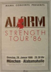 ALARM CONCERT TOUR POSTER 1986 STRENGTH