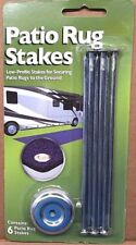RV/Trailer/Camper - Patio Rug Stakes Hold Down Kit Package, 6 Stakes Included