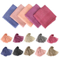 New Sequin Scarves Lady Long Soft Cotton Scarf HeadWrap Shawl Stole Muslim Hijab