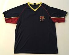 Official Fc Barcelona Blue V-Neck Soccer Fan Jersey Xl