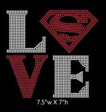 Love Square Superman Iron On Rhinestone Transfer DIY