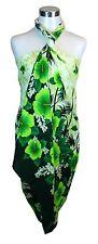 Sarong Dress Swim Cover Cruise Beach Luau Wrap Shawl Pareo Palm Tree FloralGreen