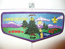 OA Langundowi 46,S13?,1972,2012,40th Ann Lodge Flap,French Creek Council,Erie,PA