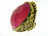 Sajen Bronze by Marianna and Richard Jacobs Oval Red Quartz Ring