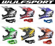 CASCHI MOTOCROSS WULFSPORT Casco Moto Quad Cross Scooter MX Racing con occhiali