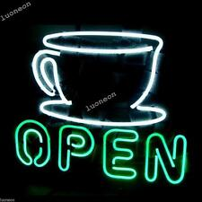 Rare New Coffer Cafe Store Open Pub Real Beer Bar Pub Neon Light Sign Free Ship