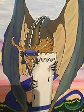 Guardian Dragon Oil Painting