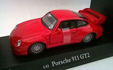 CARARAMA 1:43 AUTO DIE CAST AUTO PORSCHE 911 GT2 ROSSO ART  250