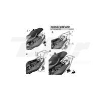 SHAD - S0GS66ST : Anclajes soportes fijaciones herraje baul maleta Top Master