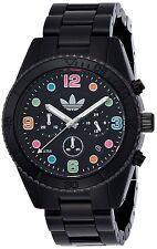 ADIDAS BRISBANE BLACK ION PLATED,SILICONE BAND,MULTI COLOR DIAL,WATCH ADH2946