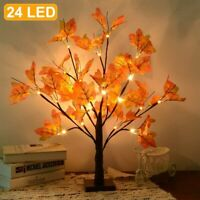 24 LED Maple Leaf Decorative Light Bedside Table Desk Lamp Table Tree Light