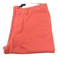 Ralph Lauren Womens Size 6 Classic Chino POLO Jeans Pants Cotton Coral Orange