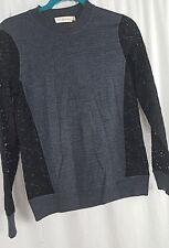 Tory Burch Kammy Sweater Lace Detail Dark Gray Melange  XS NWT  P-12