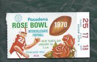1970 Rose Bowl football ticket stub Michigan Wolverines USC Trojans staple holes